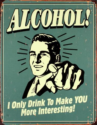 Álcool! Placa de lata