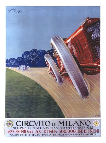Circvito di Milano Giclee Print