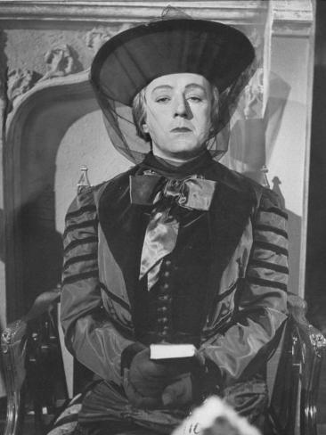 Alec Guinness During a Scene from the Movie
