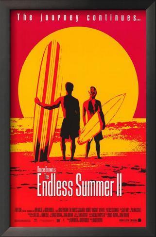 Alegrias de Verão 2 Impressão artística emoldurada