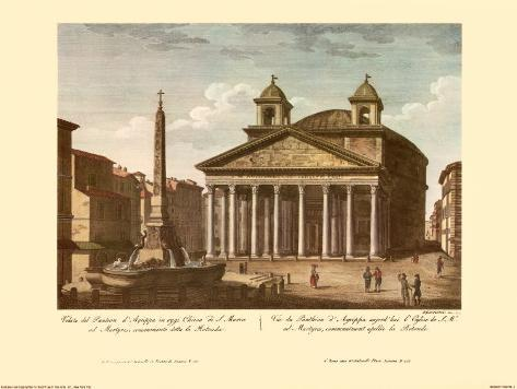 View of the Pantheon Art Print