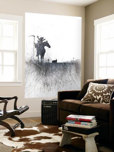 Death rides a horse Giant Art Print