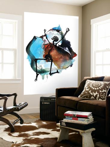 turn down for what wall mural by alex cherry at. Black Bedroom Furniture Sets. Home Design Ideas