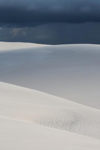 A Stormy Afternoon Sky Above Brazil's Lencois Maranhenses Sand Dunes Photographic Print