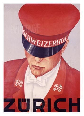 Schweizerhof, Zurich Giclee Print