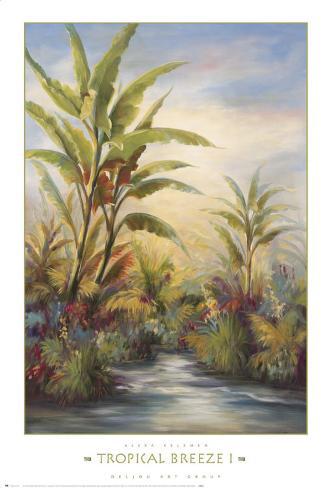 Tropical Breeze I Art Print