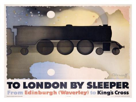 To London by Sleeper Giclee Print
