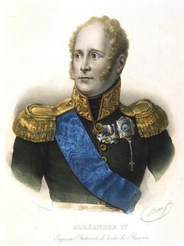Alexander I, Tsar of Russia, C1801-1825 Giclee Print
