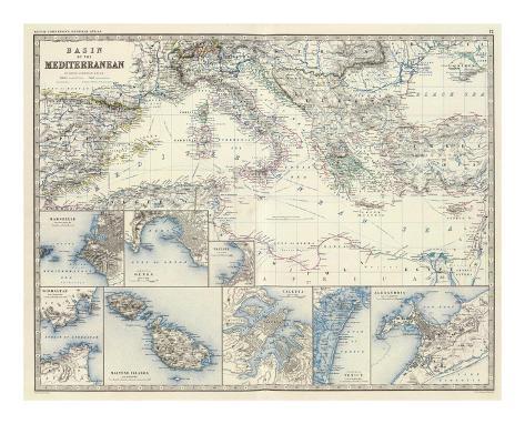 Mediterranean Basin, c.1861 Art Print