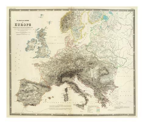 Mountains of Europe, c.1854 Art Print