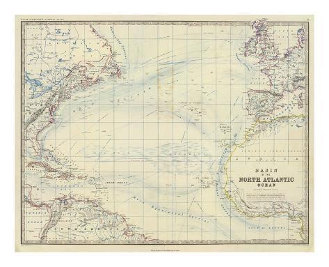 North Atlantic Ocean, c.1861 Art Print
