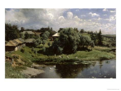 Farmstead in Russia Giclee Print