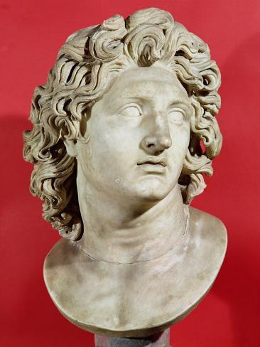 Alexander the Great (356-323 BC) King of Macedonia, Roman Copy of Greek Original Giclee Print