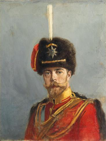 Study for a Portrait of Emperor Nicholas Ii, Chief of the Guard Hussar Regiment, C.1908 Giclee Print