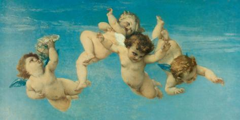 Birth of Venus (detail) Stretched Canvas Print
