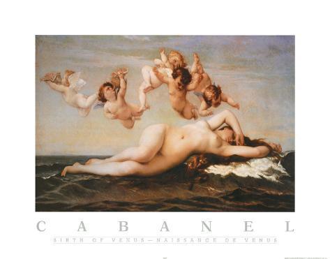 Alexandre Cabanel The Birth of Venus Art Print Poster Poster