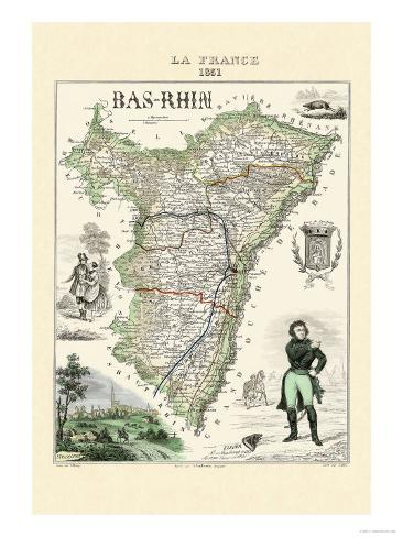 Bas-Rhin Art Print