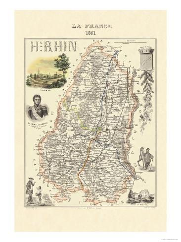 Haut-Rhin Art Print
