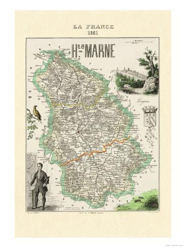 Haute-Marne Premium Giclee Print