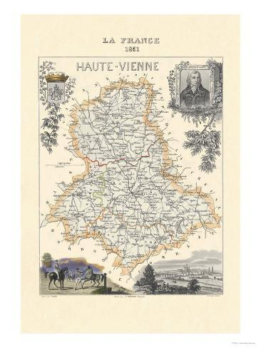 Haute-Vienne Art Print