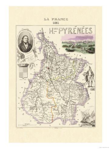 Hautes-Pyrenees Premium Giclee Print