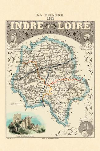 Indre-Et-Loire Wall Decal