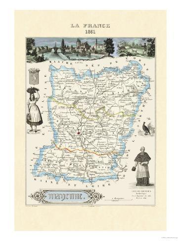 Mayenne Premium Giclee Print