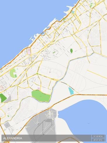 Alexandria Egypt Map Photo At Allposters Com