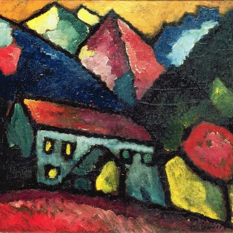 A House in the Mountains, c.1912 Giclee Print