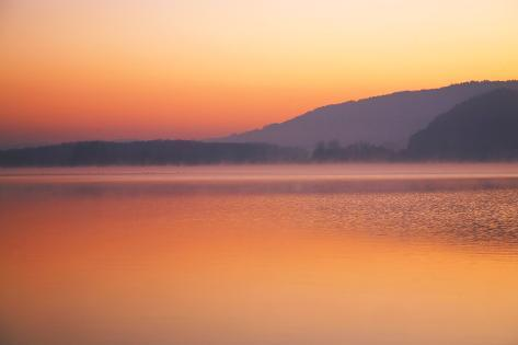Lake, Morning Mood, Light Atmosphere Photographic Print