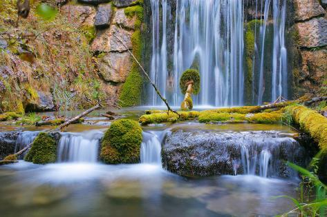 Waterfall, Stream Course Photographic Print