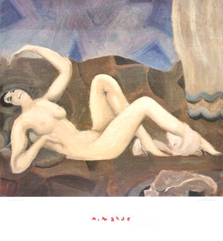 Anticipation - Reclining Nude Art Print