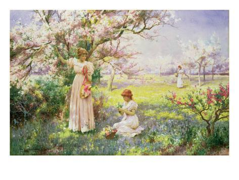 Spring: Picking Flowers, 1898 Giclee Print