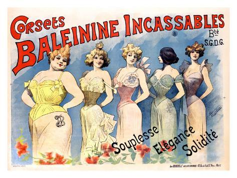 Corsets Baleinine Incassables Giclee Print