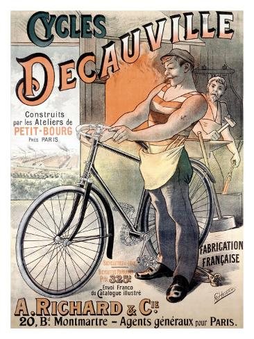 Cycles Decauville Giclee Print