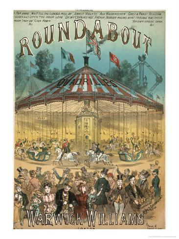 Roundabout Music Cover Giclee Print