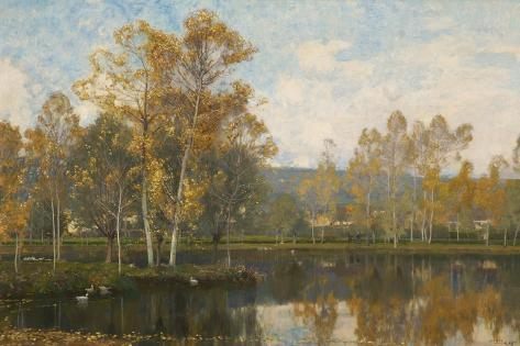The Sleepy River Somme, 1897 Giclee Print