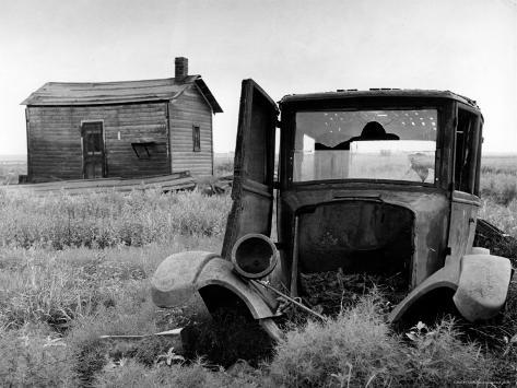 Abandoned Farm in Dust Bowl Photographic Print