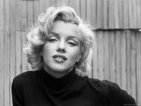 Actress Marilyn Monroe at Home Premium Photographic Print