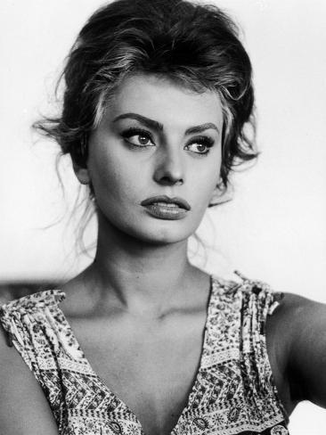 actress sophia loren at home premium photographic print by alfred