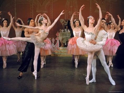 Ballerina Maria Tallchief and Others Performing the Nutcracker Ballet at City Center Premium Photographic Print