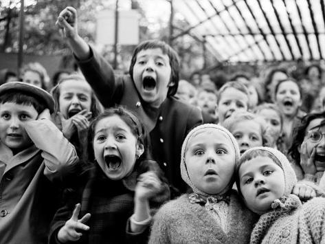 Children at a Puppet Theatre, Paris, 1963 Photographic Print