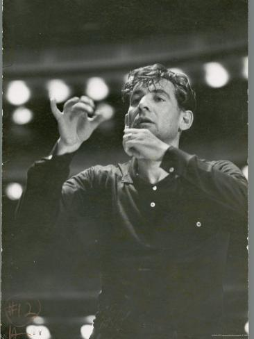 Leonard Bernstein Conducting Rehearsal of NY Philharmonic in Hindemith's