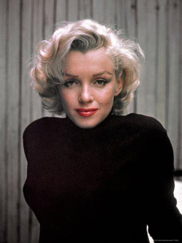 Marilyn Monroe on Patio Outside of Her Home Premium Photographic Print