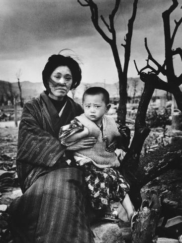 Mother and Child in Hiroshima, Four Months After the Atomic Bomb Dropped Photographic Print