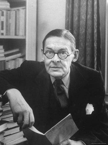 Portrait of American Born Poet and Dramatist T.S. Eliot in His Study Premium Photographic Print