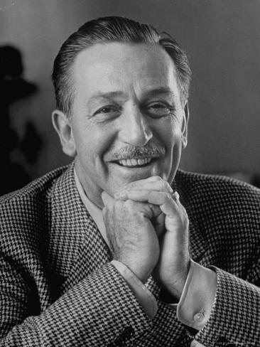 Walt Disney in Smiling Portrait Premium-valokuvavedos