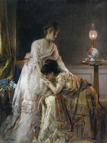 After the Ball, 1874 Lámina giclée
