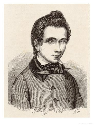 Evariste Galois French Mathematician Giclee Print