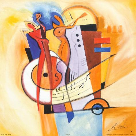 Jazz on the Square Art Print